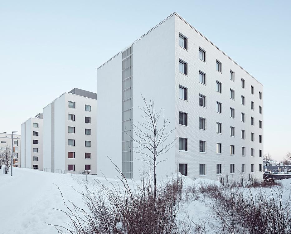 HOAS Hemanni student housing designed ny Heikkinen-Komonen Architects in Helsinki, Finland