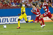 FRISCO, TX - SEPTEMBER 29:  Dominic Oduro #11 of the Columbus Crew breaks free against FC Dallas on September 29, 2013 at Toyota Stadium in Frisco, Texas.  (Photo by Cooper Neill/Getty Images) *** Local Caption *** Dominic Oduro