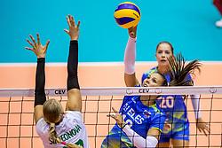 22-08-2017 NED: World Qualifications Slovenia - Bulgaria, Rotterdam<br /> Bulgaria win 3-1 against Slovenia / Sasa Planinsec #18 of Slovenia