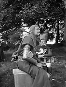 Film - 'The Knights of the Round Table' at Luttrellstown Castle, Castleknock, Co. Dublin.Robert Taylor on set..25/08/1953