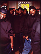 Wu Tang Clan, on the set of a video shoot in 1999.