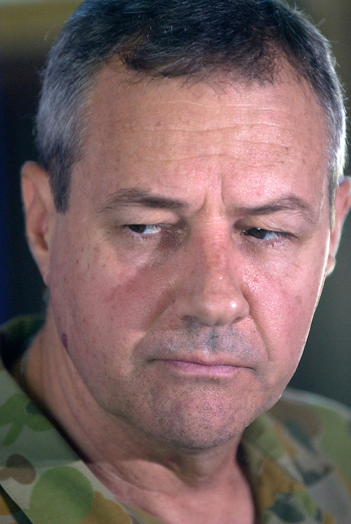 Brigadier Mal Rerden, Commander of Operation Astute, East Timor (Timor-Leste) during a Press Conference at Camp Pheonix.