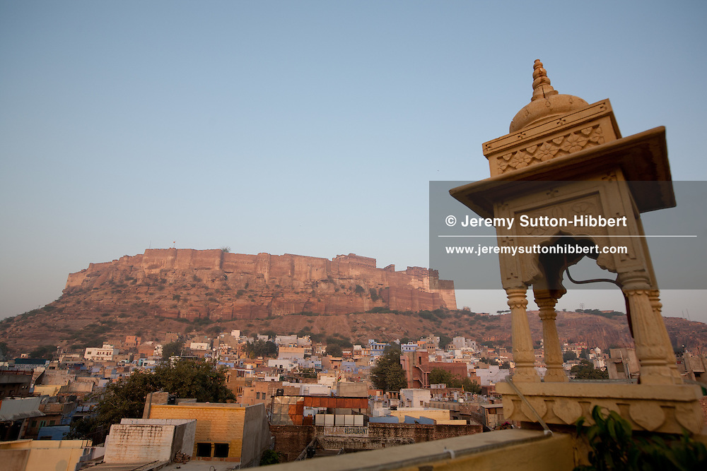Views of Mehrangarh Fort in Jodhpur, in Rajasthan, India, on 27th December 2011.