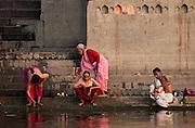 Morning rituals on the sacred Ganges, Varanasi, India