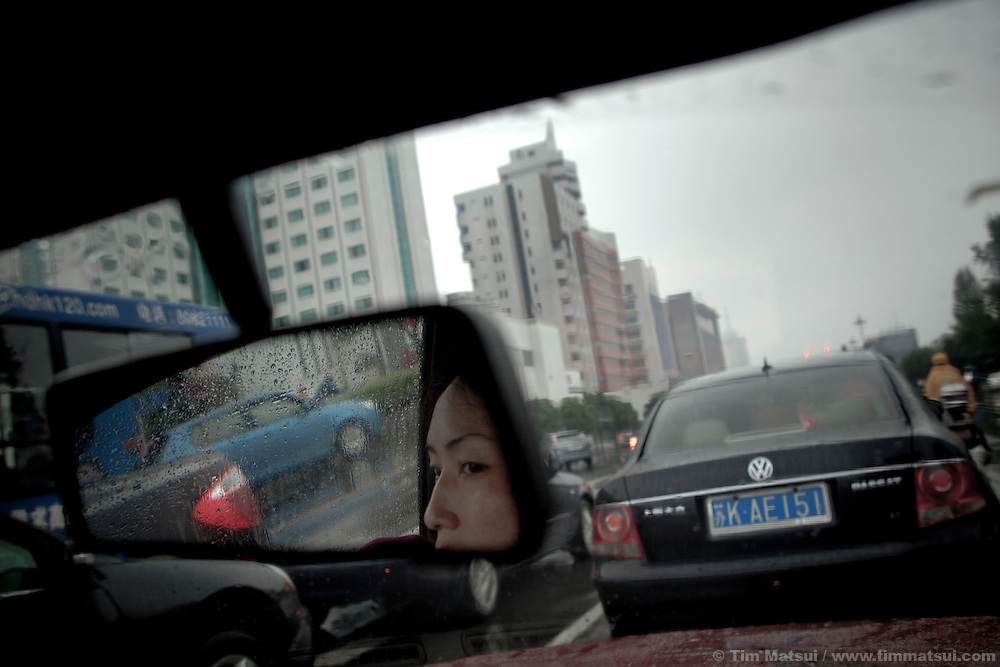 Morning commute in Yangzhou, China, a suburb city of Shanghai and major producer of photovoltaic cells for solar power.