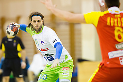 Dean Bombac of Slovenia during friendly handball match between National Teams of Slovenia and F.Y.R. of Macedonia before EHF EURO 2016 in Poland on January 4, 2015 in Sports hall Krsko, Krsko, Slovenia. Photo by Urban Urbanc / Sportida