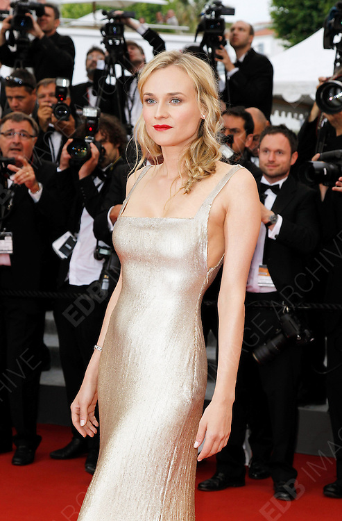 12.MAY.2011. CANNES<br /> <br /> DIANE KRUGER ARRIVING ON THE RED CARPET FOR THE SLEEPING BEAUTY PREMIERE AT THE 64TH CANNES INTERNATIONAL FILM FESTIVAL 2011 IN CANNES, FRANCE.<br /> <br /> BYLINE: EDBIMAGEARCHIVE.COM<br /> <br /> *THIS IMAGE IS STRICTLY FOR UK NEWSPAPERS AND MAGAZINES ONLY*<br /> *FOR WORLD WIDE SALES AND WEB USE PLEASE CONTACT EDBIMAGEARCHIVE - 0208 954 5968*