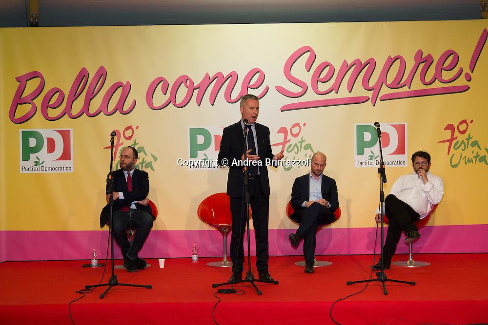 Bologna 21 Aprile 2015 Festa Nazionale dell&rsquo;Unit&agrave; - 70 anni di Feste - Inaugurazione del 70&deg; Festa dell&rsquo;Unit&agrave;<br /> Nella Foto: On. Lorenzo Guerini Vicesegretario Nazionale del Partito Democratico