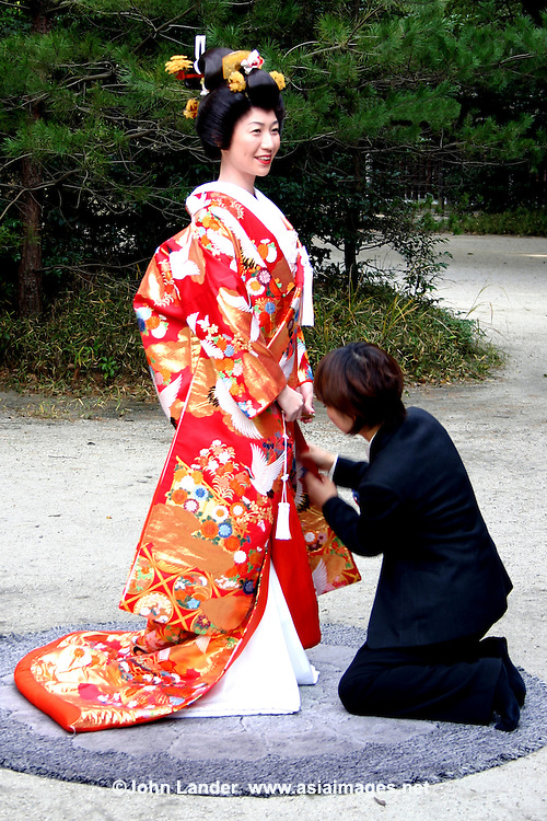 Meiji Shrine Wedding Kimono Preparations