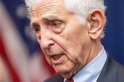 Whistleblower Daniel Ellsberg released the so called Pentagon papers in 1971, a top secret study of the US Government decisions in the Vietnam war. Ellsberg was charged in 1973 for espionage, theft and conspiracy, but  all charges were dropped in May 1973. Daniel Ellsberg photographed at  The National Press Club in Washington.