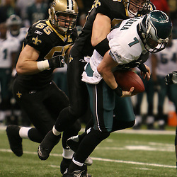 13 January 2007: during a 27-24 win by the New Orleans Saints over the Philadelphia Eagles in the NFC Divisional round playoff game at the Louisiana Superdome in New Orleans, LA. The win advanced the New Orleans Saints to the NFC Championship game for the first time in the franchise's history.