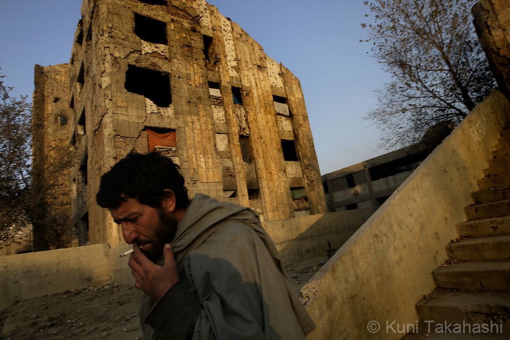 A bombed-out, abandoned building - once a centre for culture and science -has now become home to over 100 drug addicts in Kabul, Afghanistan. According to the United Nations, illegal drug addiction rates in Afghanistan have doubled in the past two years. Nearly a million people are believed to be using illegal drugs, including more than 150,000 opium users and 50,000 heroin addicts..