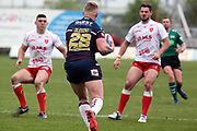 Leeds Rhinos prop forward Mikolaj Oledzki (28) on the attack during the Betfred Super League match between Hull Kingston Rovers and Leeds Rhinos at the Lightstream Stadium, Hull, United Kingdom on 29 April 2018. Picture by Mick Atkins.