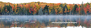 64776-010.16 Fall Color at small lake or pond Alger county in the Upper Peninsula, MI