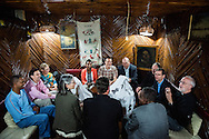 Members of an LCMS team and local EECMY delegates meet for lunch at a traditional Addis Ababa, Ethiopia, on Sunday, Nov. 9, 2014. LCMS Communications/Erik M. Lunsford