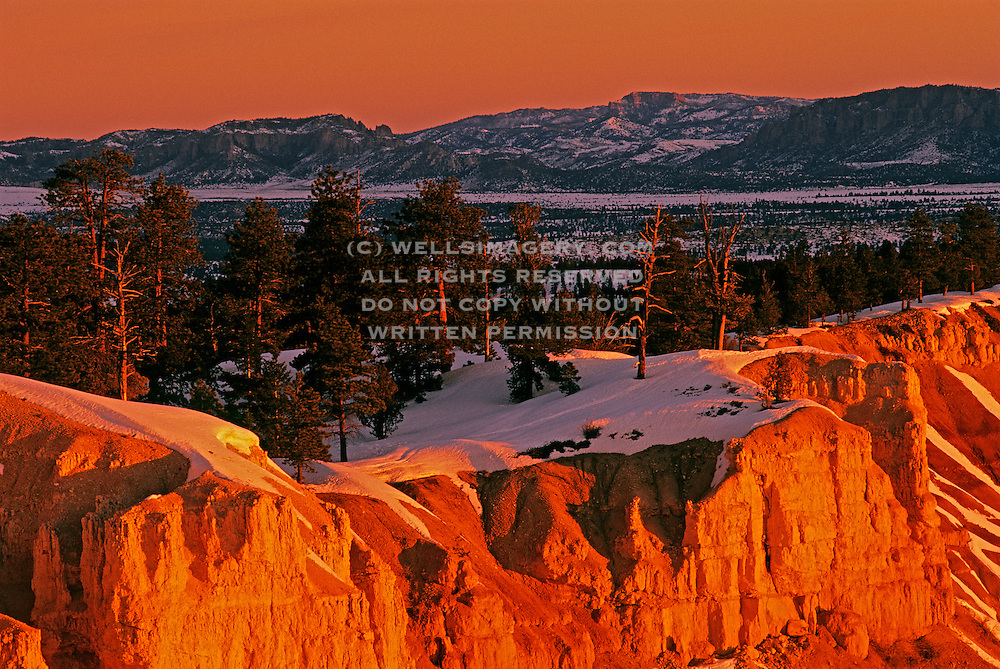 Image Of Bryce Canyon National Park Utah American Southwest In Winter