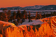 Image of Bryce Canyon National Park, Utah, American Southwest, in winter.