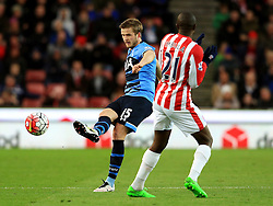 Eric Dier of Tottenham Hotspur and Gianelli Imbula of Stoke City  - Mandatory by-line: Matt McNulty/JMP - 18/04/2016 - FOOTBALL - Britannia Stadium - Stoke, England - Stoke City v Tottenham Hotspur - Barclays Premier League