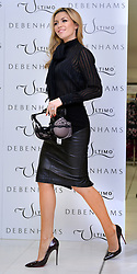 Abbey Clancy launches the Ultimo Valentines Collection at Debenhams, Oxford Street, London, UK.<br /> Tuesday, 11th February 2014. Picture by Ben Stevens / i-Images