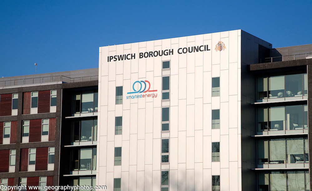 Administrative headquarters building for borough council, Ipswich, Suffolk, England