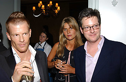 Left to right, Top chef  TOM AIKENS, MISS CELIA WALDEN and WILLIAM SITWELL at the Tatler Restaurant Awards in association with Champagne Louis Roederer held at the Four Seasons Hotel, Hamilton Place, London W1 on 10th January 2005.<br />