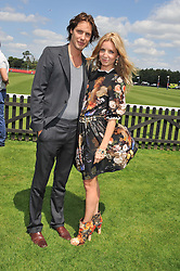 ANNABELLE WALLIS and JAMES ROUSSEAU at the Audi International Polo Day held at Guards Polo Club, Smith's Lawn, Windsor on 22nd July 2012.