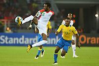 Fotball<br /> Afrika Cup / Afrikamesterskapet<br /> 17.01.2015<br /> Burkina Faso v Gabon<br /> Foto: Panoramic/Digitalsport<br /> NORWAY ONLY<br /> <br /> Jonathan Pitroipa ( Burkina Faso )<br /> Andre Biyogo Poko ( Gabon )