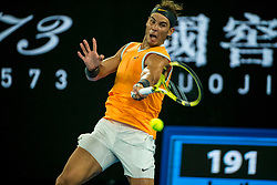 January 24, 2019 - Melbourne, VIC, U.S. - MELBOURNE, AUSTRALIA - JANUARY 24 : Rafael Nadal of ÊSpain returns the ball during the semifinals on day 11 of the Australian Open on January 24 2019, at Melbourne Park in Melbourne, Australia.(Photo by Jason Heidrich/Icon Sportswire) (Credit Image: © Jason Heidrich/Icon SMI via ZUMA Press)