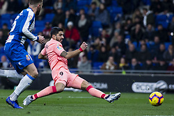 December 8, 2018 - Barcelona, Catalonia, Spain - 09 Luis Suarez of FC Barcelona during the Spanish championship La Liga football match between RCD Espanyol v FC Barcelona on December 08, 2018 at RCD Stadium stadium in Barcelona, Spain. (Credit Image: © Xavier Bonilla/NurPhoto via ZUMA Press)
