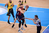 Baskonia's Andrea Bargnani and Iberostar Tenerife's Fran Vazquez during Quarter Finals match of 2017 King's Cup at Fernando Buesa Arena in Vitoria, Spain. February 16, 2017. (ALTERPHOTOS/BorjaB.Hojas)