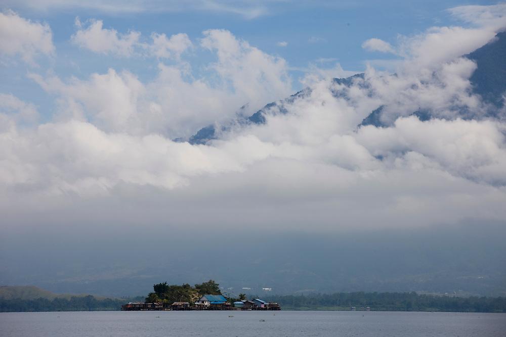 View of Sentani Lake, Papua, Indonesia, Sept. 7, 2008..Daniel Beltra/Greenpeace