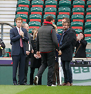Prince Harry looks on watching a girls rugby game before the RBS 6 Nations match at Twickenham Stadium, Twickenham<br /> Picture by Andrew Tobin/Focus Images Ltd +44 7710 761829<br /> 21/03/2015