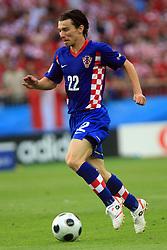 Danijel Pranjic of Croatia during the UEFA EURO 2008 Group B soccer match between Austria and Croatia at Ernst-Happel Stadium, on June 8,2008, in Vienna, Austria.  (Photo by Vid Ponikvar / Sportal Images)