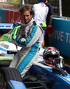 Jarno Trulli taking it easy before the race during the FIA Formula E Visa London ePrix  at Battersea Park, London, United Kingdom on 28 June 2015. Photo by Matthew Redman.
