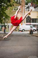 Dance As Art New York City Photography Project- Minetta Lane West Village with dancer Alyssa Ness