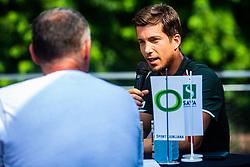 Aljaz Bedene during ATP Press conference with Aljaz Bedene, on July 25th, 2019, in Ljubljansko kopalisce Kolezija, Ljubljana, Slovenia. Photo by Grega Valancic / Sportida