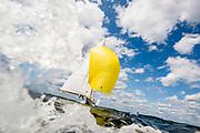 Ruweida V sailing in the Panerai Herreshoff Classic Yacht Regatta.