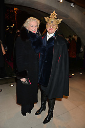 Left to right, KITTY ARDEN and SELINA BLOW at a private view of Isabella Blow: Fashion Galore! held at Somerset House, London on 19th November 2013.