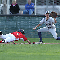 Leland #21 Justin Kuhns vs Westmont in a BVAL Baseball Game at Westmont High School, Campbell CA on 3//23/2018. (Photograph by Bill Gerth/ for SVCN) (Leland 9 Westmont 8)