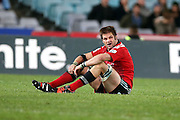 Richie McCaw disappointed. NSW Waratahs v Canterbury Crusaders. Sport Rugby Union Super Rugby Representative Provincial. ANZ Stadium. 23 May 2015. Photo by Paul Seiser/SPA Images