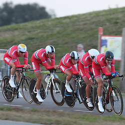27-09-2016: Wielrennen: Olympia Tour: HardenbergHARDENBERG (NED) wielrennenNederlands oudste wielerkoers ging van start in Hardenberg met een ploegentijdrit.Team Norway