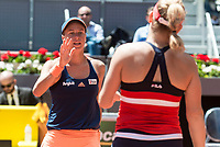 Czech Andrea Hlavackova and Hungarian Timea Babos during Mutua Madrid Open Sub16 Tennis 2017 at Caja Magica in Madrid, May 13, 2017. Spain.<br /> (ALTERPHOTOS/BorjaB.Hojas)