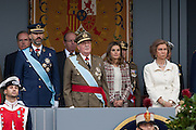 Hispanic day military parade in Madrid