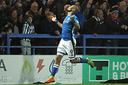GOAL Disallowed, Calvin Andrew reacts to his goal being cancelled out during the EFL Sky Bet League 1 match between Rochdale and Oldham Athletic at Spotland, Rochdale, England on 17 April 2018. Picture by Daniel Youngs.