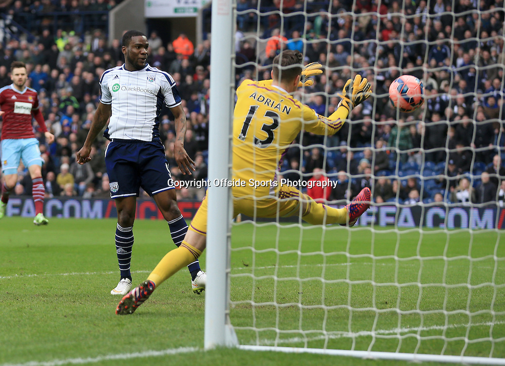 14th February 2015 - FA Cup 5th Round - West Bromwich Albion v West Ham United - Brown Ideye of West Bromwich Albion slots home from 4 yards to open the scoring (1-0) - Photo: Paul Roberts / Offside.