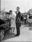 Minogue- Bergin Wedding, St. Finnian's Church, Hollybrook Hotel, Clontarf<br /> 24.06.1961