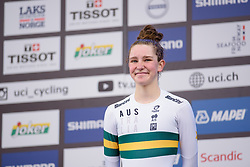 Third place for Madeleine Fasnacht at UCI Road World Championships Junior Women's Individual Time Trial 2017 a 16.1 km time trial in Bergen, Norway on September 18, 2017. (Photo by Sean Robinson/Velofocus)