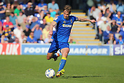 AFC Wimbledon defender Paul Robinson (6) clearing the ball during the EFL Sky Bet League 1 match between AFC Wimbledon and Bristol Rovers at the Cherry Red Records Stadium, Kingston, England on 8 April 2017. Photo by Matthew Redman.