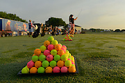Volvik golf balls on the range during the second round of the Symetra Tour's Self Regional Healthcare Foundation Women's Health Classic at the Links at Stoney Point on May 9, 2014 in Greenwood, South Carolina.<br /> <br /> ©2014 Scott A. Miller