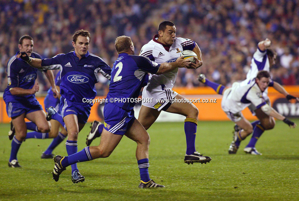 8 May, 2004. Rugby Union Super 12. Eden Park, Auckland, New Zealand. Blues v Highlanders.<br /> <br /> Neil Brew.<br /> The Blues won the match, 50 - 22.<br /> Please credit: Photosport